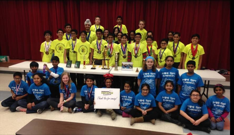 picture of the Power MS 2016 Science Olympiad team